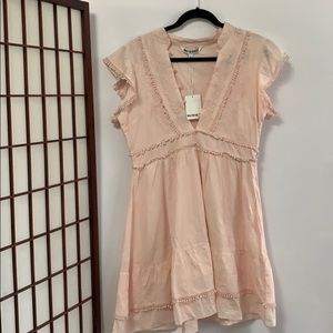 NWT WALTER BAKER EMBROIDERY LACE UP DRESS 8